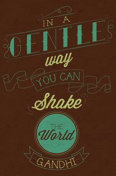 ... can shake the world.