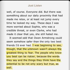 this quote from just listen by sara dessen more quotes 3 sarah dessen ...