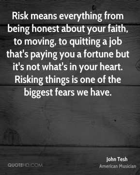 John Tesh - Risk means everything from being honest about your faith ...