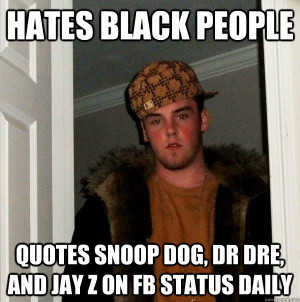 hates black people quotes snoop dog, dr dre, and jay z on fb ...