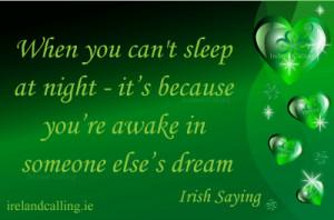 By a bit of Irish luck