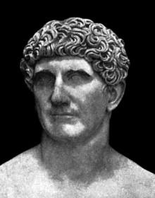Bust of Mark Antony in Vatican City
