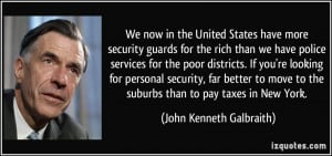 have more security guards for the rich than we have police services ...