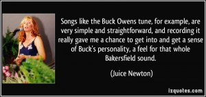 Songs like the Buck Owens tune, for example, are very simple and ...