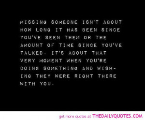 Missing Someone | The Daily Quotes