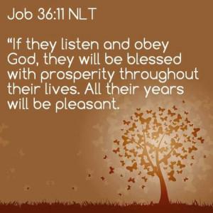 Bible - Job 36:11