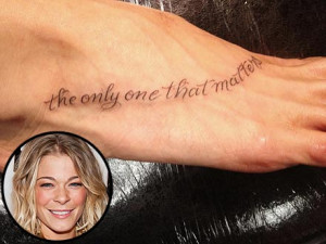 LeAnn Rimes Shows Off 'Dainty' New Tattoo