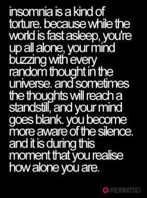 Insomnia. A lifetime sentence.
