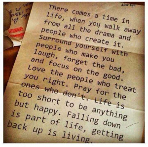 Life Quote and Reality Check In.