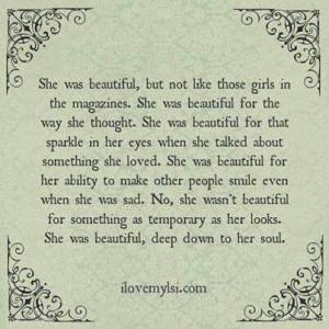 She was beautiful ...