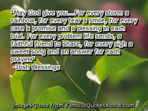 ... And A Blessing In Each Trial….. - Irish Blessings ~ Prayer Quote
