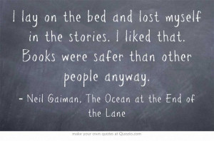Books were safer than other people anyway • Neil Gaiman Memories ...