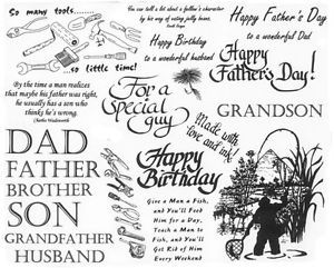 ... -Rubber-Stamp-Sheets-Men-Father-Fishing-Quotes-Sayings-Tools-Dad