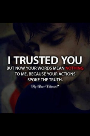 hate trusting the wrong person, now and these days that's all there is ...