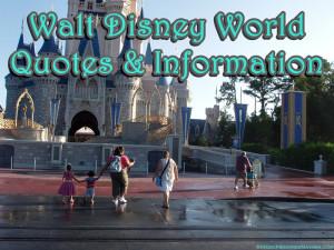 Walt Disney World Resort Travel Quotes & Information Request