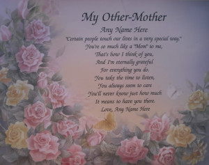 Details about MY OTHER MOTHER PERSONALIZED POEM GIFT SOMEONE LIKE MOM
