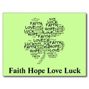 Four Leaf Clover Meaning: Hope, Faith, Love, Luck Post Card