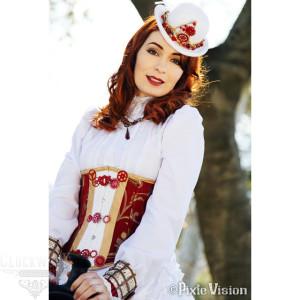Actress Felicia Day as Steampunk Codex
