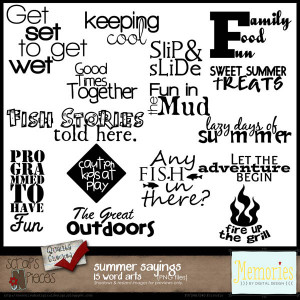 Summer Sayings Word Art - PU/S4H/S4O