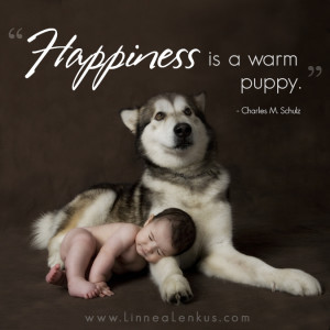 Inspirational Quote Happiness is warm puppy 300x300 Portrait