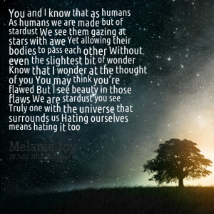 Quotes Picture: you and i know that as humans as humans we are made ...