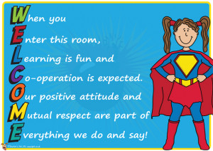 Teacher's Pet - 'Welcome' Superhero Themed Poster - FREE Classroom ...