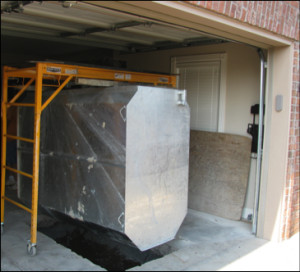 Above Ground Garage Storm Shelters