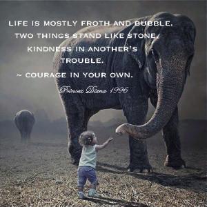 Elephant Child Princess Diana quote