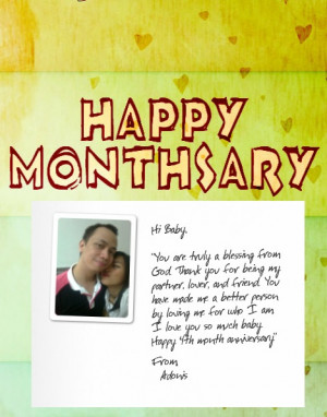 sweet monthsary message for her