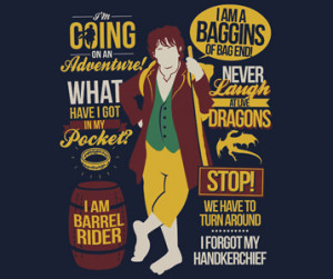The Hobbit Quotes T-Shirt