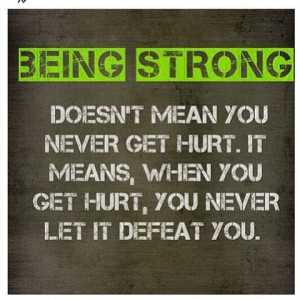 Being Strong Disappointed...