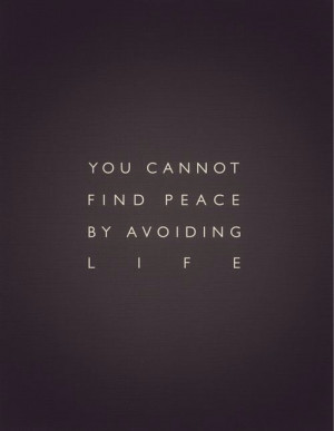 quotes about life you cannot find peace by avoiding life Quotes About ...