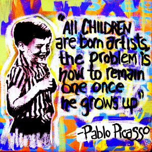 Picasso Quote Mixed Media