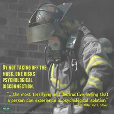 by Jean Baker Miller and Irene Stiver. poster of a masked firefighter ...