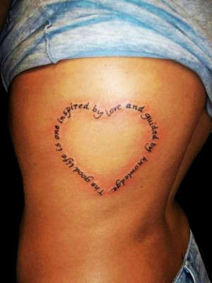Female Heart Quotes Tattoo