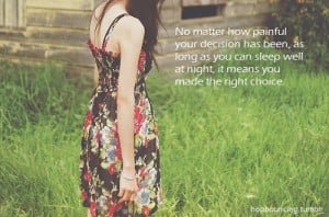 beautiful, choice, decision, girl, quotes - inspiring picture on Favim ...