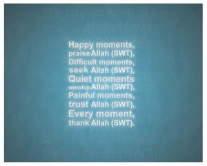 Every moment thank Allah by MeAli-ADK