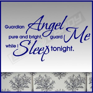 Guardian Angel...Nursery Wall Lettering Words Quotes Sayings Decals