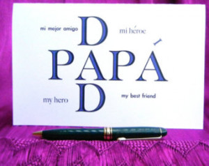 ... Spanish English Card, Father's Day Gift, Gift for Dad, Dia de los