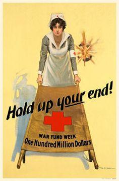 WWII Vintage 40s 50s AMERICAN RED Cross Volunteer Nurse Uniform Dress ...