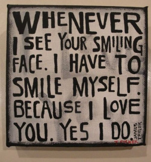 ... Love #Smile #SmilingFace #picturequotes #JamesTaylor View more #quotes