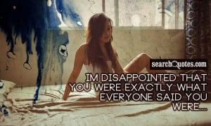 Sad Relationship Being Disappointed Quotes   Sad Relationship ...