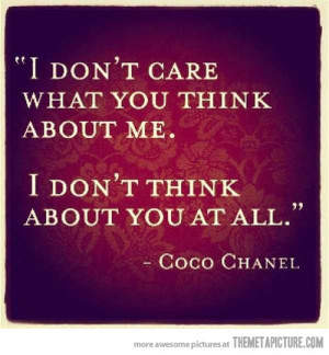 Funny photos funny Coco Chanel quote