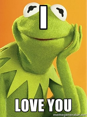 Kermit the frog - I LOVE YOU