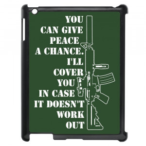 Funny Gun Rights Quotes iPad Case