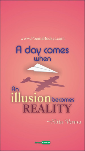 Reality illusion quote, quote of the day, motivational reality quote ...