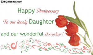 ... Anniversary » Family Wishes » To our lovely daughter and son-in-law