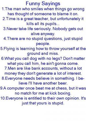Some great funny sayings