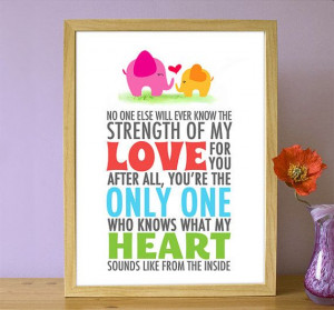 Printable Love Inspirational Quote - You're the only one who knows ...