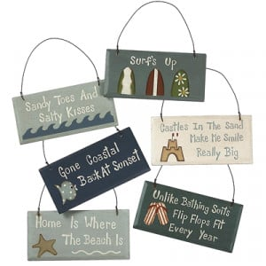 Cute Beach Sign Ornaments with Sayings You'll Love